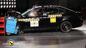 La Skoda Octavia durante il Crash test
