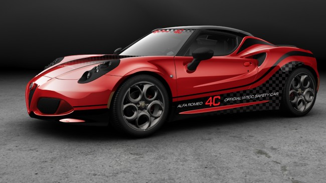 L' Alfa Romeo 4C in configurazione safety car